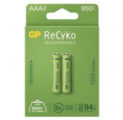 Nabíjecí baterie GP NiMH ReCyko+ AAA 2 ks, samostatně