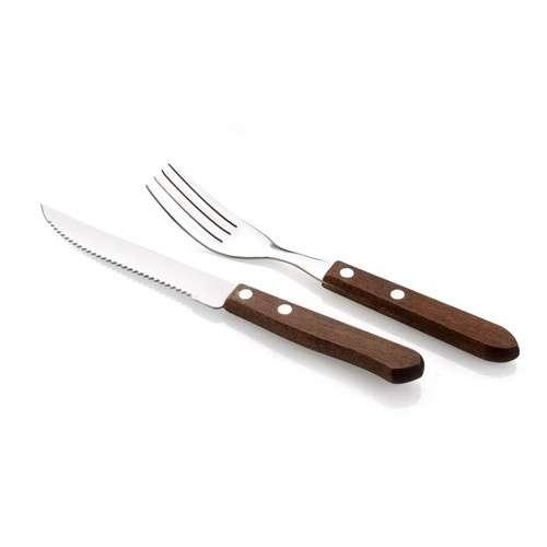 Banquet 12D STEAKOVÝ SET BBQ Steakový příbor - Příbor na steak dřevěný