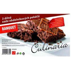 3dílná sada obdelníkových pekáčů STARLINE Banquet