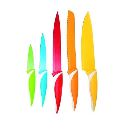 Banquet 5 dílná sada nožů s nepřilnavým povrchem, SYMBIO Colore Barevné