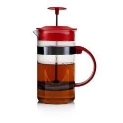 Konvice na kávu nebo čaj se sítkem BECCA 1 l pro tzv. French press, červená
