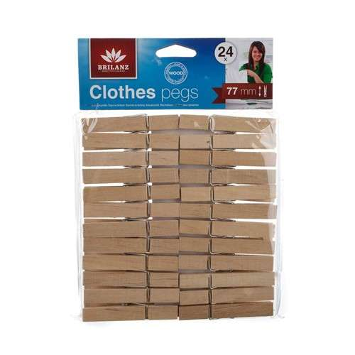 Sada dřevěných kolíčků 24ks Brilanz - Kolíčky na prádlo Banquet