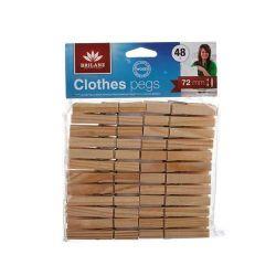 Sada dřevěných kolíčků 48ks Brilanz - Kolíčky na prádlo