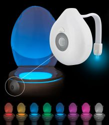 LED osvětlení na WC se senzorem pohybu