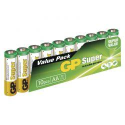 Alkalická baterie GP 1,5V AA 10 ks