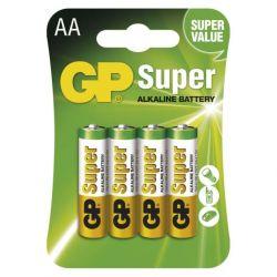 Alkalická baterie GP 1,5V AA 4 ks