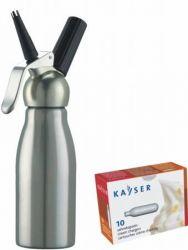 Láhev na šlehačku - Láhev nerezová 0,5 l na přípravu šlehačky Kayser INOXcreamer