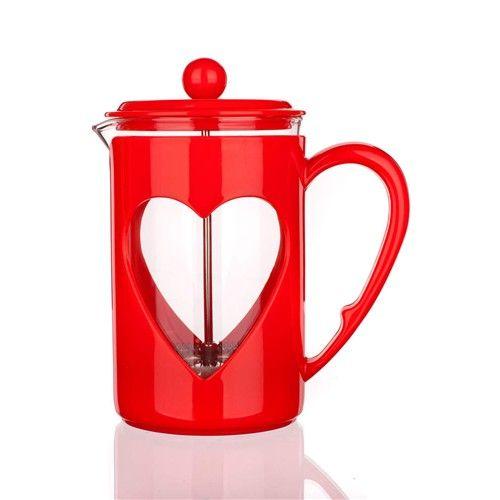 Banquet Konvice na kávu DARBY 800ml červená pro tzv. French press - Kafeterie