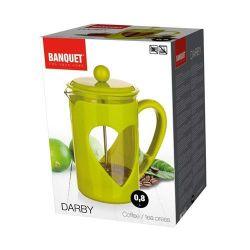 Konvice na kávu DARBY 800ml zelená pro tzv. French press - Kafeterie Banquet