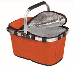 Nákupní košík termo skládací jedno madlo 41 x 28 x 22 cm oranžový
