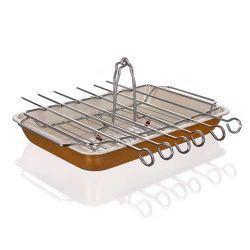 Pečící plech se stojanem a grilovacím setem 31,5x21,5x3,8 cm Gourmet Ceramia BANQUET