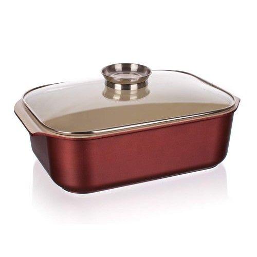 Banquet Pekáč se skleněnou poklicí a aroma knobem 40x25x11 cm BANQUET