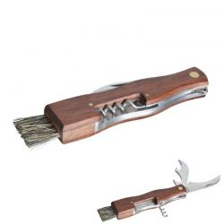 Houbařský nůž se štětečkem a otvíráky