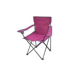 Rybářské křesílko RED FISH červené - Křeslo skladací camping židle