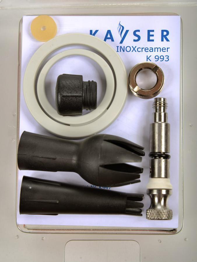 KAYSER Sada náhradních dílů pro láhve INOXcreamer černý