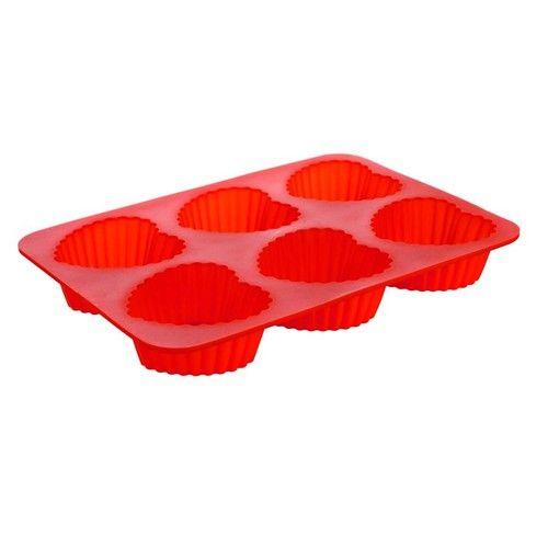 Silikonová forma 6ks srdce střední 24,5x17,5x3 cm Culinaria - red Banquet