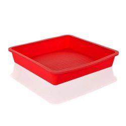 Silikonový pekáč 23x23x4 cm Culinaria - red Banquet