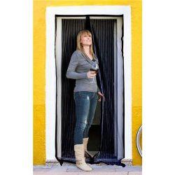 Síť na dveře proti hmyzu - černá 100x210 cm