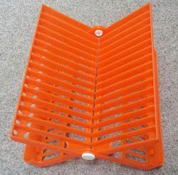 Stojan odkapávač na nádobí skládací - oranžový