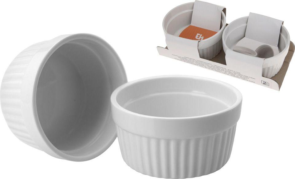 Zapékací miska na creme brulee a muffiny - misky pr. 9 cm sada 2 ks - bílé