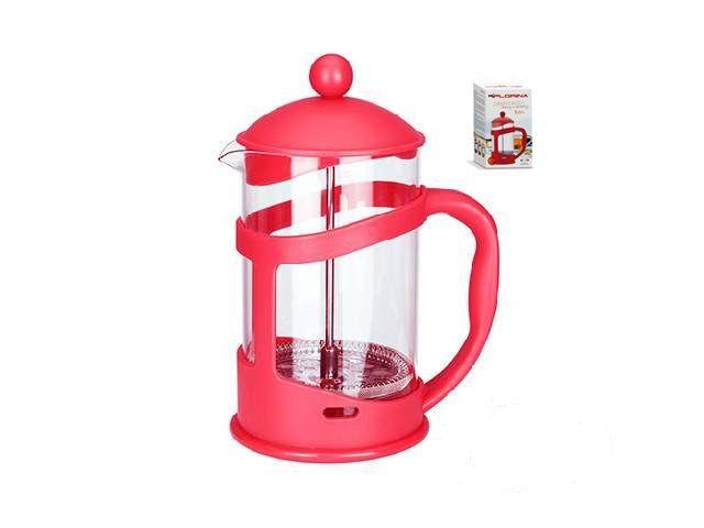 Konvice na kávu nebo čaj se sítkem Florina 350 ml červená pro tzv. French press . Kafeteria