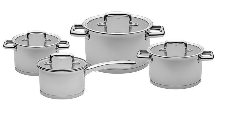 Florina 8 dílná sada nerez nádobí s poklicí Chilli Florina