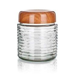 Doza PLUS 1000 ml skleněná s plastovým víkem
