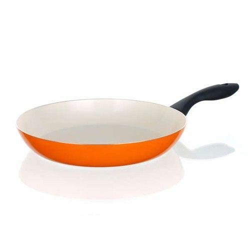 Keramická pánev Pánev 28 cm oranžová se spirálovým dnem Natura Ceramia Arancia Banquet