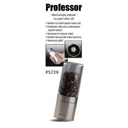 Mlýnek Professor PS729 na pepř/sůl manuální, nerez