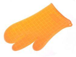 Silikonová chňapka dvaprsty - Oranžová