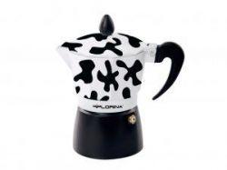 Kafetier hliníkový espresso maker Kávovar černý design 6 šálků alu