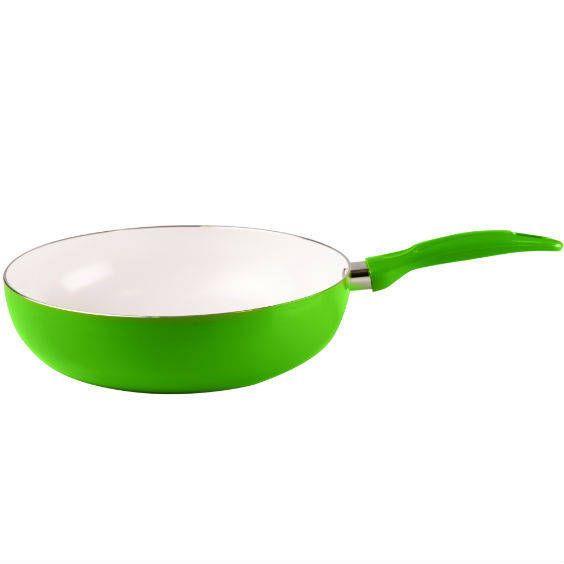 Keramická pánev WOK Sofia Florina průměr 30 cm - Zelená