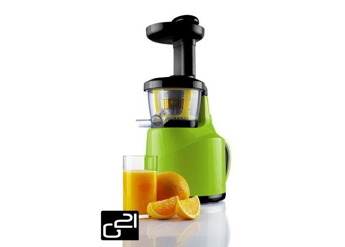 Odšťavňovač G21 Perfect Juicer, green zelený + poukázka na knihu tajemství syrové stravy zdarmagreen zelený
