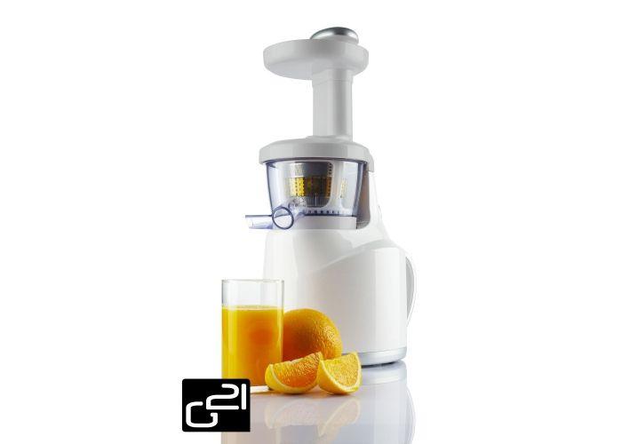 Odšťavňovač G21 Perfect Juicer, white bílý + poukázka na knihu tajemství syrové stravy zdarma