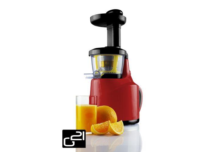 Odšťavňovač G21 Perfect Juicer, red červený + poukázka na knihu tajemství syrové stravy zdarma