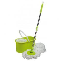 Rotační mop Mop Mopio 73256 točící rukojeť + 2 hlavice zeleno/bílý