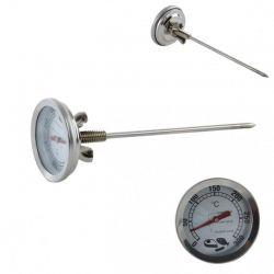 Teploměr do udírny nerez 16 cm do 300 °C