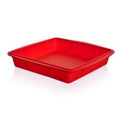 Silikonový pekáč 23x23x4 cm Culinaria - red