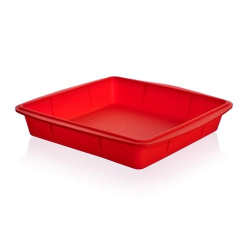 Banquet Silikonový pekáč 23x23x4 cm Culinaria - red