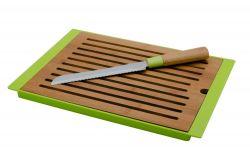 Bambusové prkénko na pečivo včetně nože