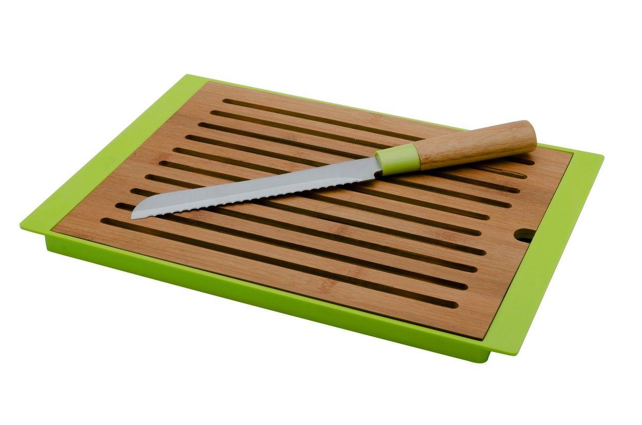 Florina Bambusové prkénko na pečivo včetně nože