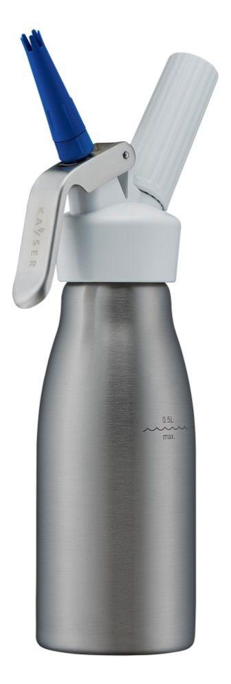 KAYSER Láhev na šlehačku - nerezová s plastovou hlavou 0,5 l WHIPcreamer STANDARD Kayser