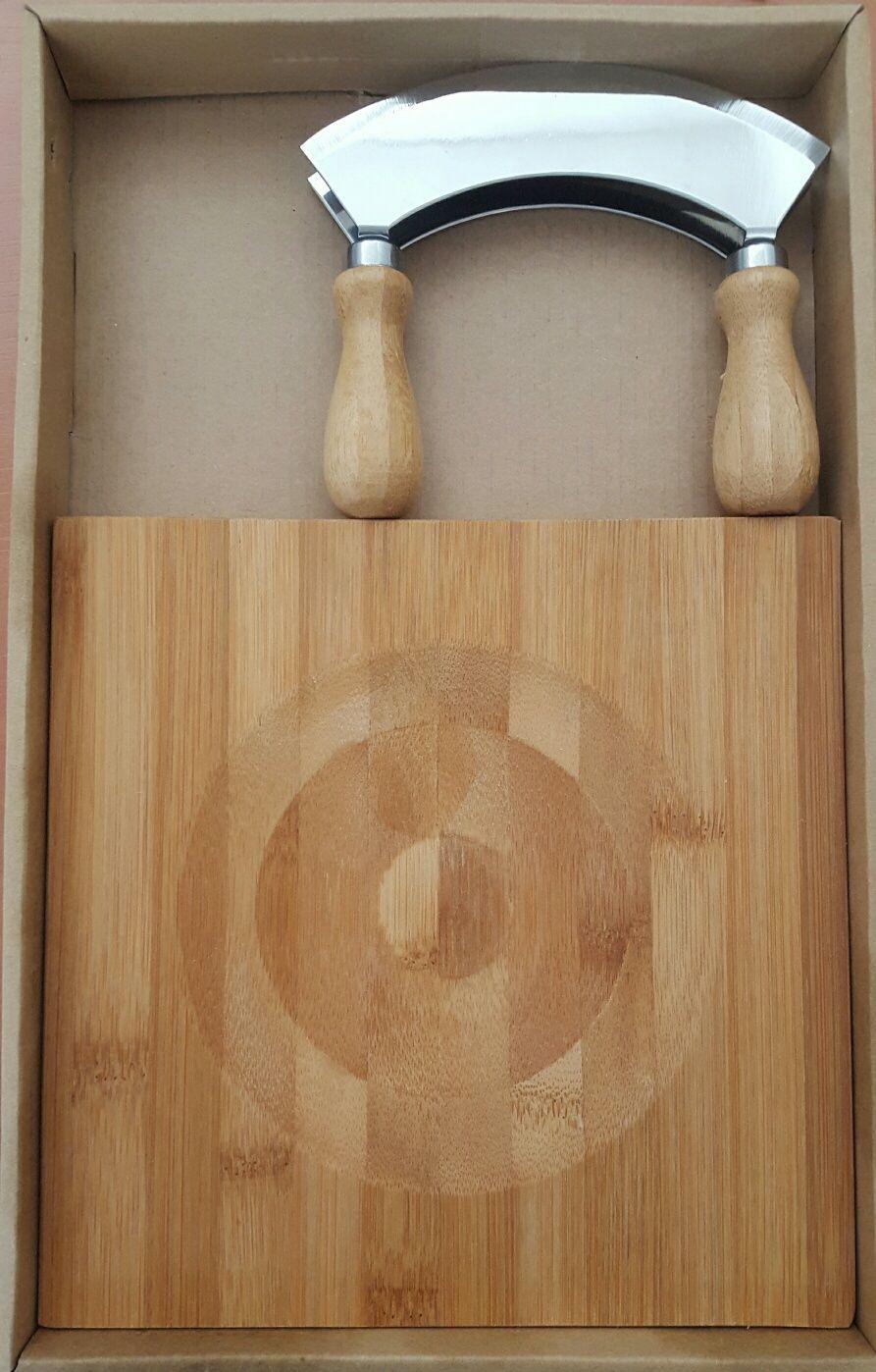 Sekáček na bylinky s bambusovou deskou Florina
