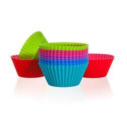 Silikonové košíčky 12 pcs Muffin Cups o6cm - 3,75cm x 2,7cm Culinaria red